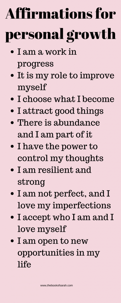 affirmations for personal growth