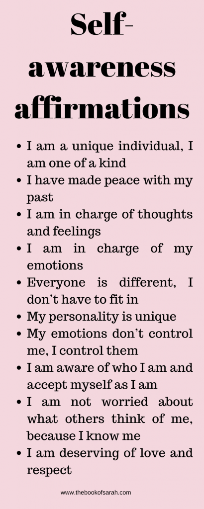 affirmations for self awareness